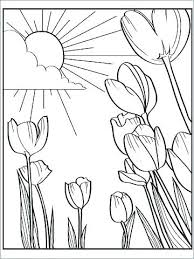 Coloring Pages For Kids Flowers Simple Flowers Coloring Pages Kids