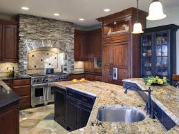 The Slate Flooring Brings The Right Amount Of Color And Movement To This  Kitchen. The Stone Hood Was Designed With The Same Stones Used On The  Fireplace ...