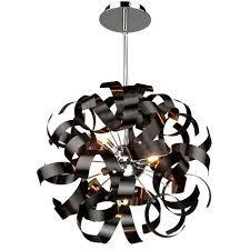 ac600bk bel air 5 light black pendant