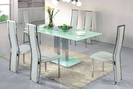 Decorative Contemporary Glass Dining Room Sets Stylish Tables And - Glass dining room furniture sets