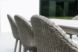 silver brushed metal chair woven. Alexander Rose Acacia Old England Grey Brushed Rectangular Woven Set Detail Silver Metal Chair B
