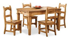 dining room furniture santa fe rusticos 5 piece dining package