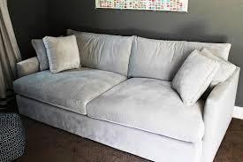 image of extra deep seat sofa white