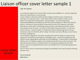 Community Liaison Cover Letter Liaison Officer Cover Letter