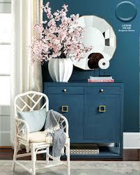 benjamin moore s lucerne blue wall color in ballard designs catalog