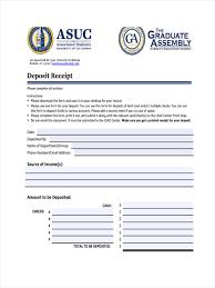 Deposit Receipt Sample 7 Deposit Receipts Examples Samples Examples
