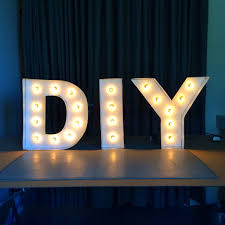 letter lighting. DIY Letter Lights Lighting I