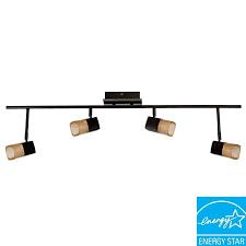 4 light oil rubbed bronze led track lighting
