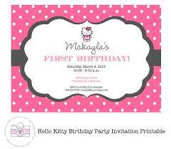 Printable Hello Kitty Invitations Personalized Hello Kitty Printable Birthday Invitations Hello Kitty