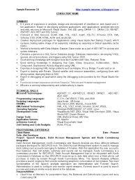 Pl Sql Sample Resumes Matchboard Co
