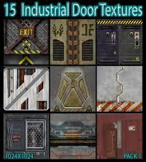Second Life Marketplace 15 Industrial Door Texturespack 1