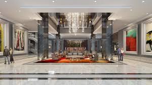 the three story glass lobby at the post oak boasts a 1 million custom chandelier