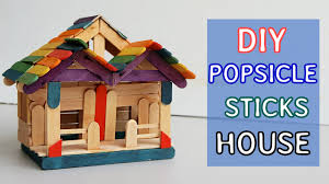 DIY Popsicle sticks House #7: Tutorial | Crafts ideas