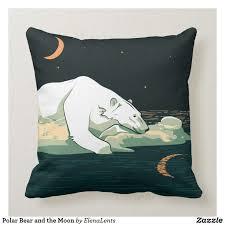 Polar <b>Bear</b> and the <b>Moon</b> Throw Pillow | Zazzle.com