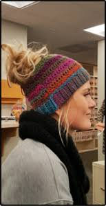 Ponytail Beanie Crochet Pattern Amazing Crochet Ponytail Hat