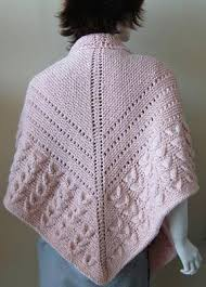 Knitted Shawl Patterns Beauteous Free Knitting Pattern For Shell Stitch And Eyelets Shawl