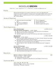 ... Best Resume Examples For Your Job Search Livecareer Web Developer Cv  Template Word Example Emphasis 2 ...