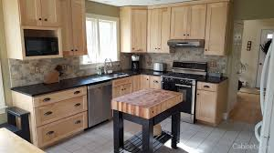 kitchen with natural wodd cabinets