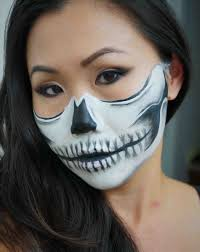 candidly claire half face painting skull makeup u candidly claire half human face tutorial