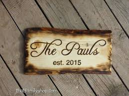 customized door signs rustic name sign with burned edges by custom sliding door signs uk custom