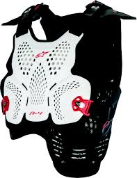 Alpinestars A 4 Chest Protector White Black Red