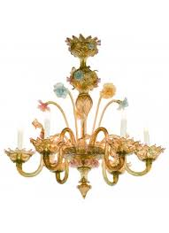 antique venetian colored glass chandelier