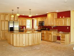 Hickory Kitchen Hickory Kitchens Lights Over Island Hickory Cabinets And Lights