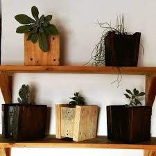 office flower pots. wooden flower pots made of recycled pallet woodcraft reclaimed wood recycle office h