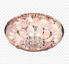 lighting chandelier lamp round peacock bedroom crystal light