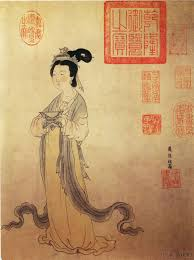 image of women in ancient chinese painting