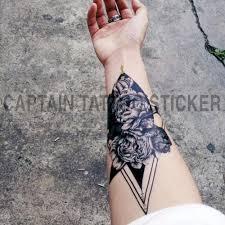 1 шткомпл маленький полный цветок рука временная водостойкая татуировка