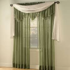 crushed voile rod pocket panel scarf valance sheer curtains brylanehome