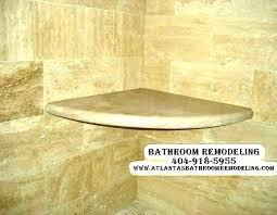 ceramic tile shower shelves corner recessed installing shelf ideas
