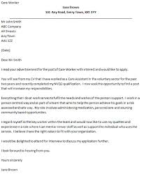 Covering Letter Example For A Care Worker Icover Org Uk