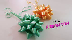 How To Make A Paper Ribbon Flower How To Make Paper Ribbon Bow Paper Flowers Paper Girl Youtube
