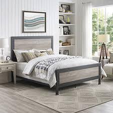 industrial bedroom furniture. Queen Size Industrial Wood And Metal Bed - Grey Wash Bedroom Furniture R