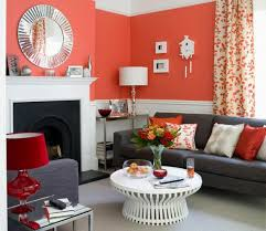 Red And Blue Living Room Decor Living Rooms With Blue Walls Living Room Design Ideas Orange And