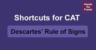 Shortcuts For Cat Descartes Rule Of Signs Handa Ka