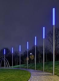 bollards meet street lights to define a pedestrian via exterior lighting street lights pedestrian and met