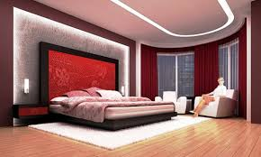 interior: Classy Double Bed On White Carpet In Awesome Bed Rooms With Two  Lamp On
