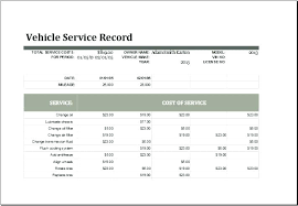 Vehicle Log Book Format Vehicle Log Book Format Excel Sample Service Record Template