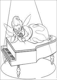 Fee Zingt En Speelt Piano Kleurplaat Gratis Kleurplaten Printen