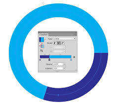 Donut Chart Illustrator How Do I Make An Incomplete Circle Stroke For A Donut Chart