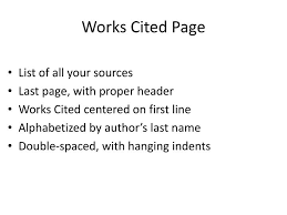 How Do You Do A Works Cited Page Ppt Works Cited Page Powerpoint Presentation Id 845786