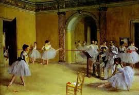 famous art work drawing edgar degas ballet rehearsal the set