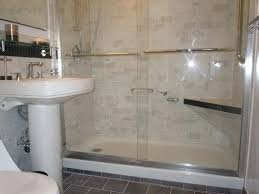 floor shower pan with sliding glass doors 5 ft tray