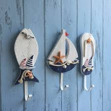 mediterranean style pothook nautical hat clothes home wall hooks hangers hanging decoration