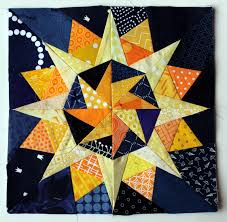 Starry Night continues – Paper Piecing Monday | WOMBAT QUILTS & Starry night Cactus Compass block Adamdwight.com