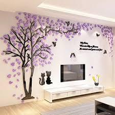 Wall Bedroom Decor Impressive Amazon ZEMPXD The Living Room Sofa Tree Wall Sticker 48D Stereo