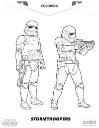 Star Wars The Force Awakens Stormtroopers Coloring Page Star Wars